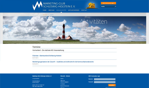 Redesign des Marketing Club Schleswig-Holstein e.V.